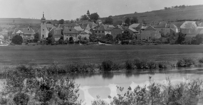 Le village de Blussans en 1895, collection O. Pernot