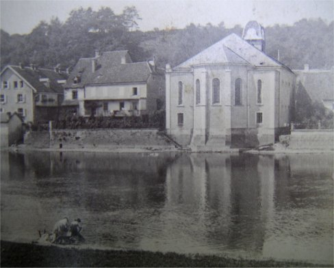 L'église de l'Isle-sur-le-Doubs en 1872, collection O. Pernot