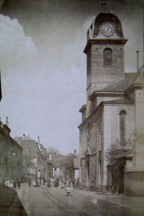 L'église en 1895, collection O. Pernot