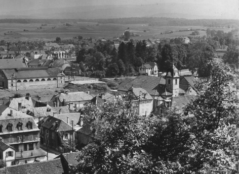 Vue de L'Isle-sur-le-Doubs vers 1950, collection O. Pernot