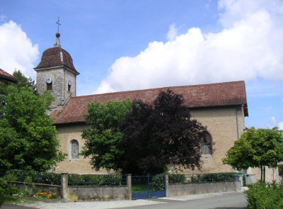 L'église de Blussans, photo O. Pernot