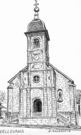 Clocher de vellevans 25 - Eglise dessin ...